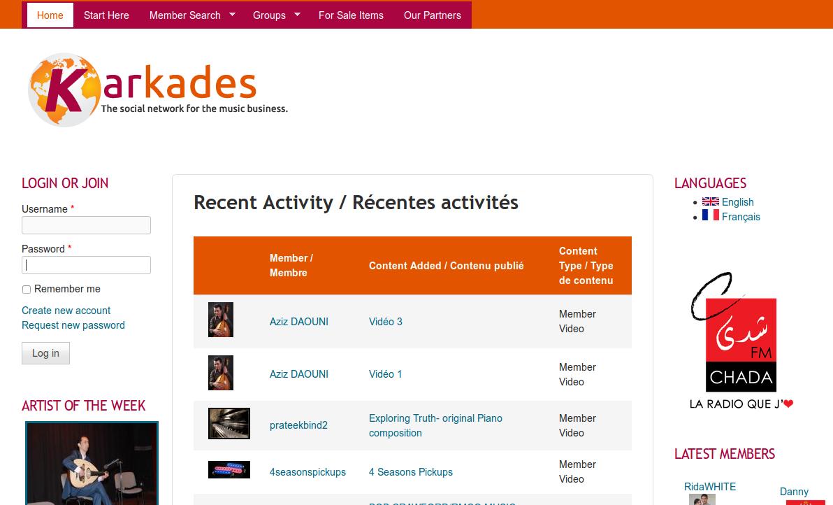 Custom Social Network: Karkades.com