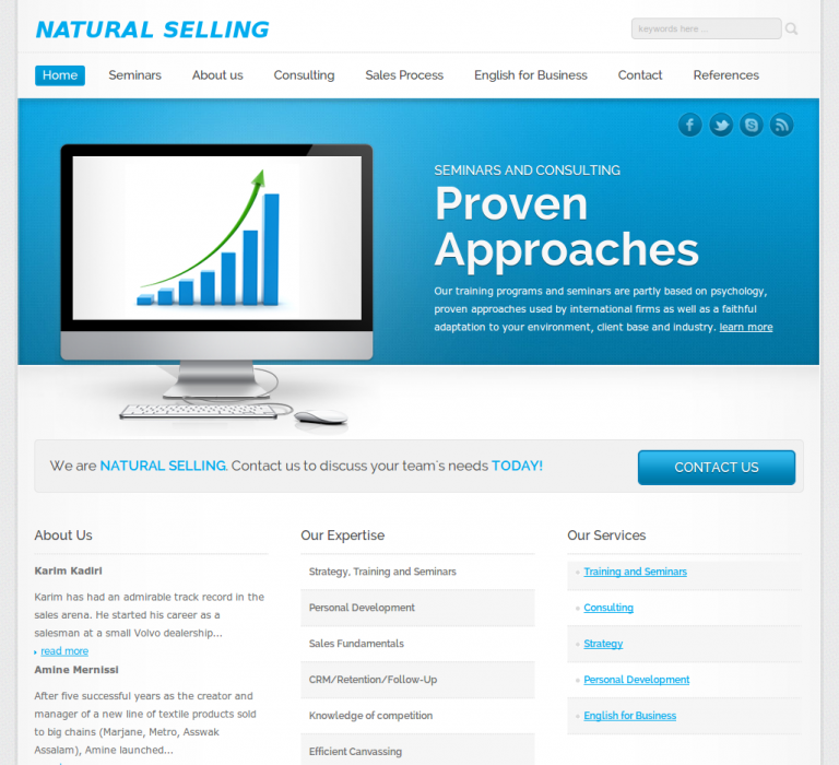 Site Re-Design: NaturalSelling