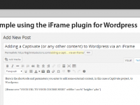 Adding a Captivate (or any other content) to WordPress via an iFrame