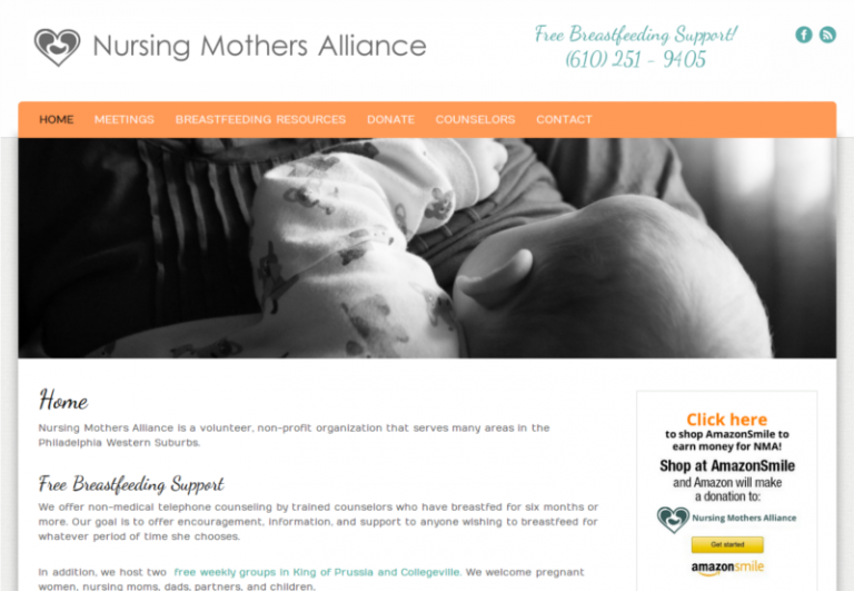 Site Re-Design: Nursing Mothers Alliance